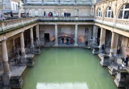 Roman Baths from above