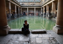 Elsa by the Roman Baths