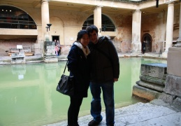 Phil and Elsa by the Roman Baths