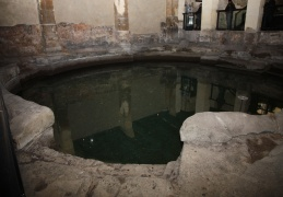 Wishing well in the Roman Baths