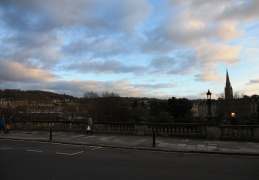View out into the countryside from near Pulteney Bridge